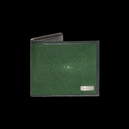 Emerald Green Ray Fish - Shagreen Wallet