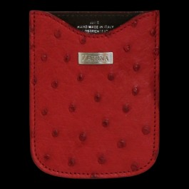 Flame Red Ostrich Phone Case