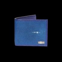 Deep Blue Ray Fish - Shagreen Wallet