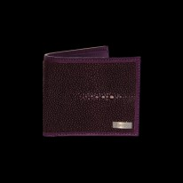 Plum Ray Fish - Shagreen Wallet