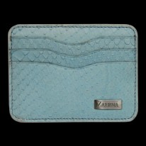 Sky Blue Python Credit Card Holder