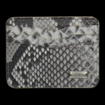 Natural White Python Credit Card Holder