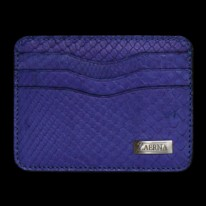 Coral Blue Python Credit Card Holder
