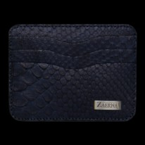 Navy Blue Python Credit Card Holder